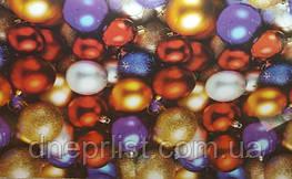 Бумага подарочная новогодняя 70*100 см / Разноцветные шары