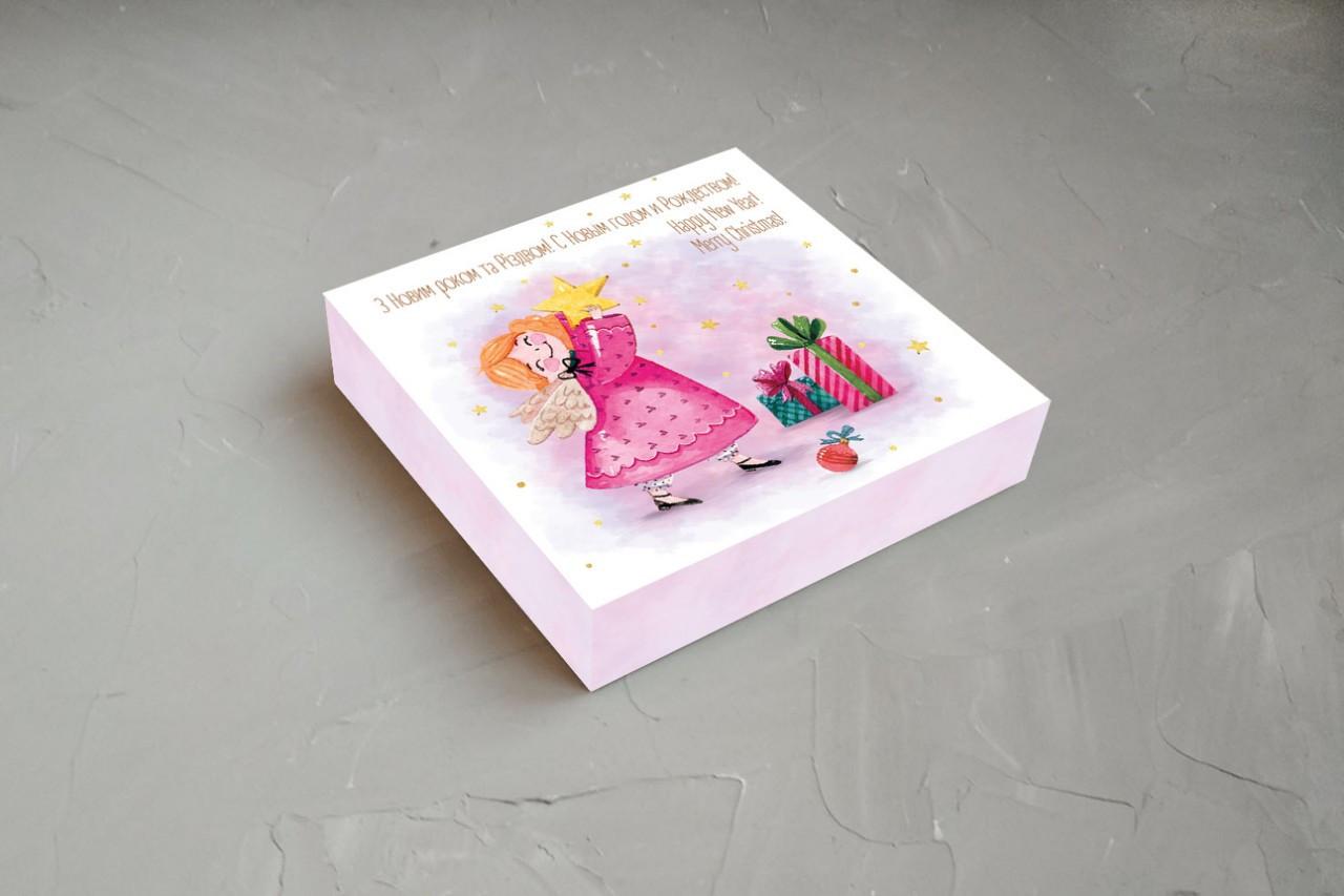 """Коробка для конфет """"С Новым годом и Рождеством"""" (Упаковка 3 шт.)"""