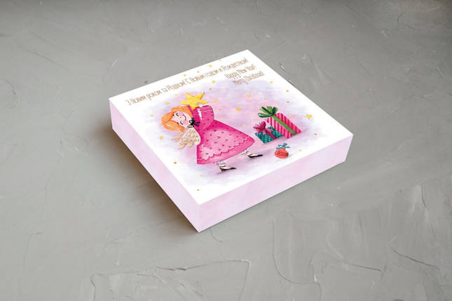 """Коробка для конфет """"С Новым годом и Рождеством"""" (Упаковка 3 шт.), фото 2"""