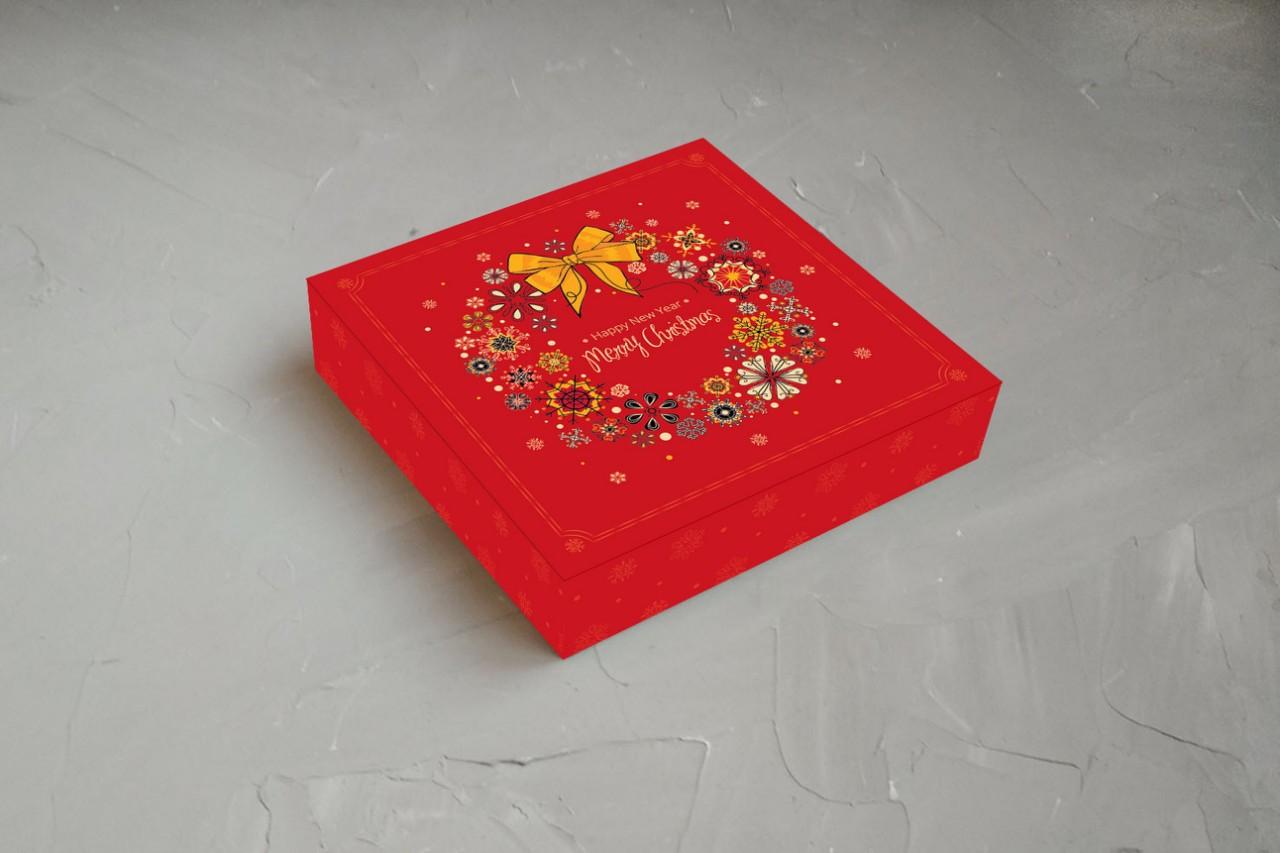 "Коробка для конфет ""Happy New Year. Merry Christmas"" (Упаковка 3 шт.)"