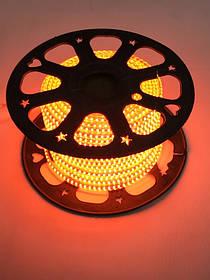 Светодиодная лента оранжевая SMD 2835/120 220V IP65 Код.59422