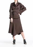 Блуза с широким поясом aLOT 40 Коричневая (020120-40) 345b69221aca0