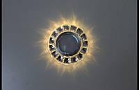 :Точечный светильник (спот)cо встроенной LED подсветкой 7058 White, фото 1