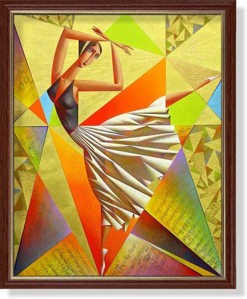 Репродукция  современной картины Г. Курасова (РФ)  «Прима»
