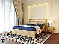 Ліжко односпальне 80х200 з натурального дерева бук в спальню  Лорд Лев