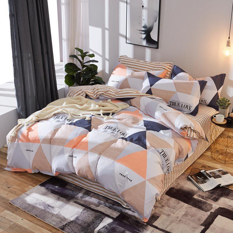 Комплект постельного белья Треугольники (полуторный) Berni Home