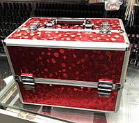 Чемодан мастера металлическая раздвижная (красный с переливом )