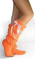 Тапочки-сапожки tf 24 высокие оранжевые