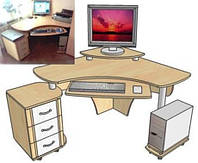 Компьютерный стол и его разновидности.