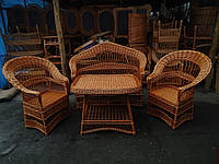 """Плетеная мебель из лозы. Набор """"Капля- Люкс"""