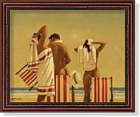 """Репродукция  современной картины Джека Веттриано (Великобритания)  """"На пляже"""""""