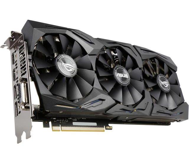 Asus PCI-Ex GeForce GTX 1070 ROG Strix 8GB GDDR5 256bit 1632 8000 DVI, 2 x  HDMI, 2 x DisplayPort, КОД: 197259 - Bigl ua
