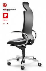 Кресло офисное для руководителя с подголовником InTouch black
