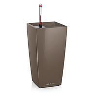 Умный вазон Maxi cubico серо-коричневый