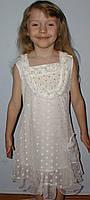 Платье гипюровое 6-10лет белое