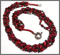 Коралл красный и хрусталь , фото 1