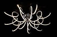 Современная ультра стильная светодиодная люстра  8663-9 хром,золото