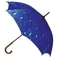 "LA16 R Зонт-трость автомат ""Капельки дождя"""