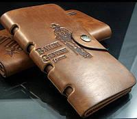 Вместительный  Мужской портмоне-клатч Bailini Long sid Hunter