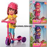 Кукла DEFA 8294 13, 5см, самокат 8-8-3см, в коробке., фото 2