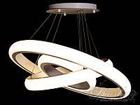 Современная светодиодная люстра 170 ват 8102-700+500+350 диммер (белая), фото 1