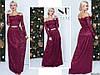 Бордове ошатне жіноче гіпюрову видовжене плаття, декоровані камінням пояс. Арт-7664/65