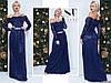 Темно-синее нарядное женское гипюровое удлиненное платье декорировано камнями пояс. Арт-7664/65
