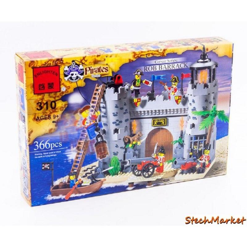 """Конструктор """"Пиратский замок"""" Brick 310 366 деталей"""