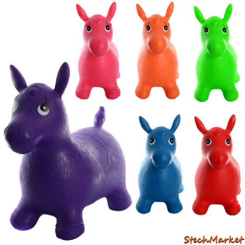 Детская игрушка надувной попрыгун - лошадки MS 0001 6 цветов