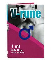 Aurora Пробник мужских духов с феромонами Aurora V-rune for men, 1 ml