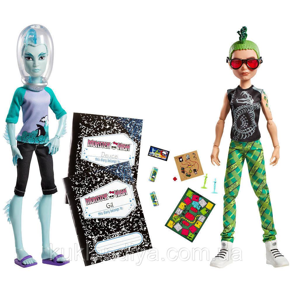 Набор Monster High Гил Веббер и Дьюс Горгон - Mansters Gil Webber & Deuce Gorgon