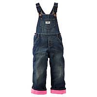 Теплый джинсовый комбинезон Oshkosh 12 месяцев, фото 1