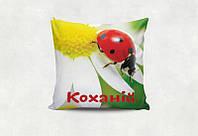Подушка декоративная с принтом  Кохання