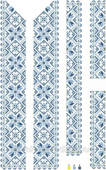Комплект вставок для вишивки чоловічої сорочки - СКРИНЬКА. Товари для  вишивки бісером та нитками. 79461f3451ecb