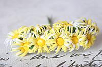 Ромашки 2,5  см 10 шт/уп. желтого цвета, фото 1