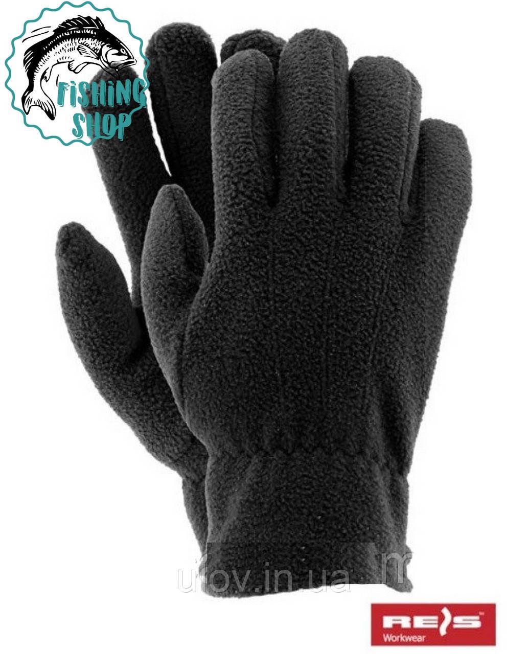 Перчатки флисовые Reis (черные)