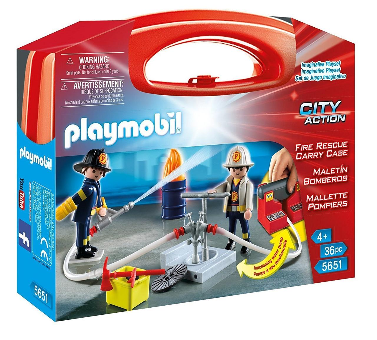 Игровой набор ПлейМобил Пожарная служба PLAYMOBIL Fire Rescue Carry Case