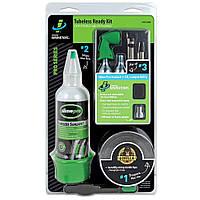 Ремкомплект для бескамерных покрышек (Герметик, уплотнительная лента, балон СО2(2шт), клапан для СО2 ), Slime