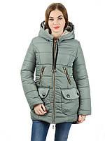 Женская зимняя парка IRVIC 906 46 Оливковый IrC-906-46 7e8f862e89f8a