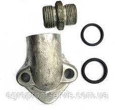 Фланец НШ-10 угловой масленого насоса штуцер с кольцами, фото 2