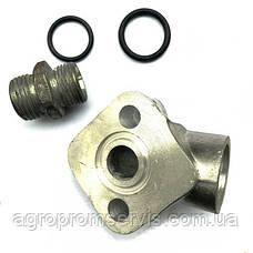 Фланец НШ-10 угловой масленого насоса штуцер с кольцами, фото 3