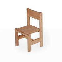 Стільчик 28см дерев'яний для дітей (букова меблі)