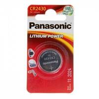 Батарея Panasonic CR 2430 BLI 1 LITHIUM (CR-2430EL/1B)