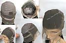 Натуральный парик, черный длинный волос, на сетке 360, имитация кожи головы, фото 9