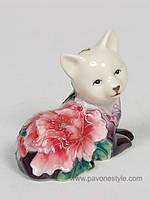 Фарфоровая статуэтка Кошка (Pavone)