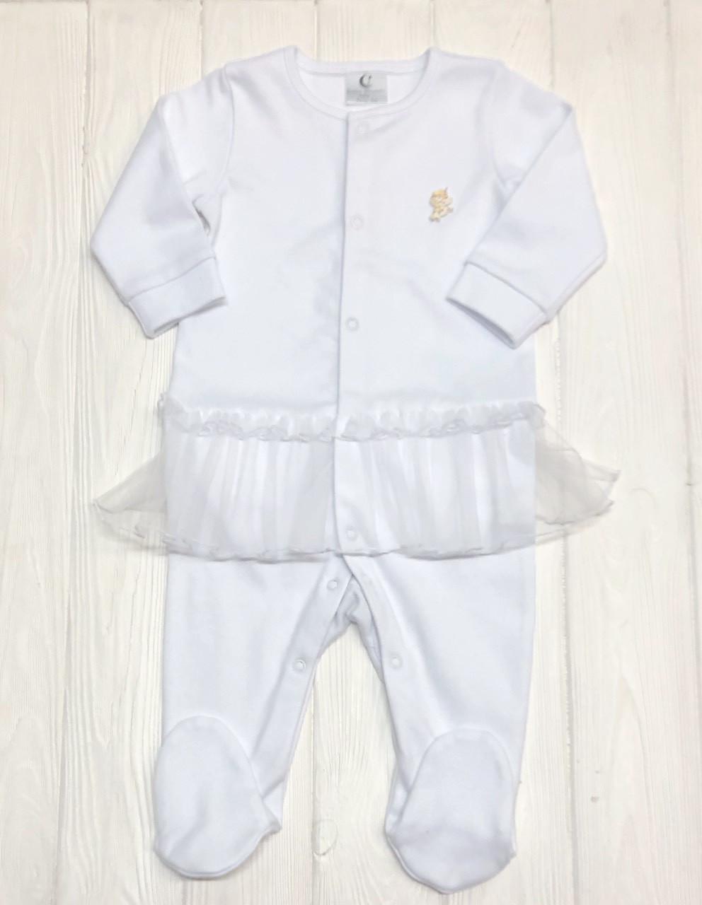Человечек с юбочкой из евросетки для младенца Белый