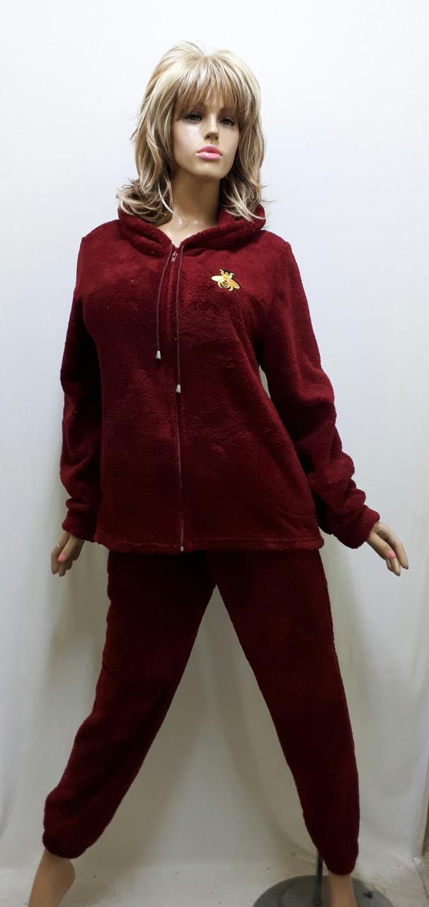Пижама женская махровая на змейке 644