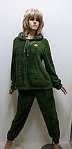 Пижама женская махровая на змейке 644, фото 3