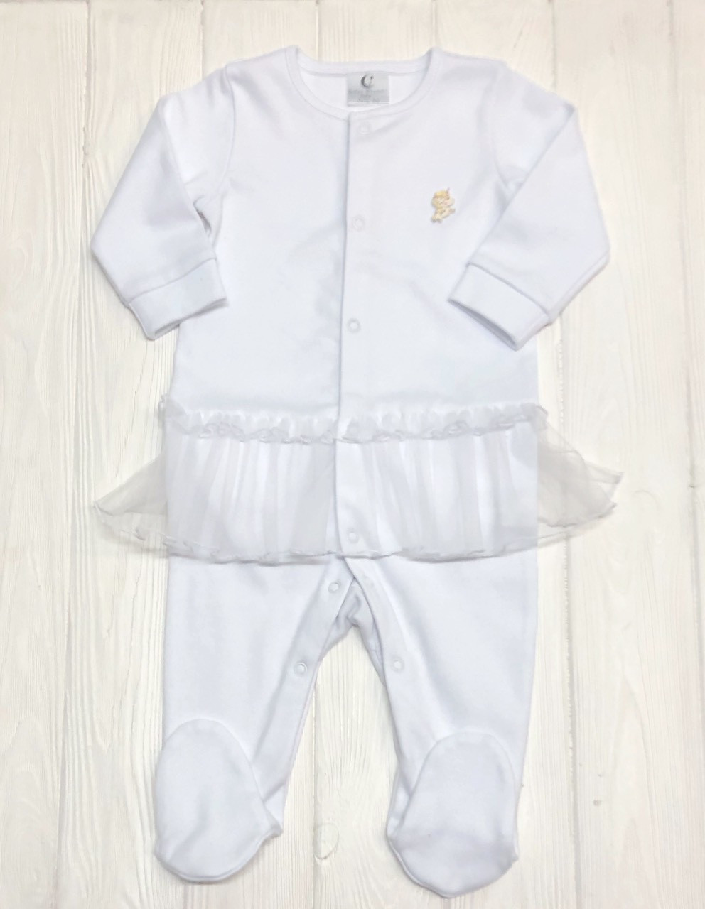 Человечек с юбочкой из евросетки для малышей Молочный