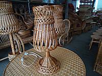 Торшер 1, плетеный из лозы